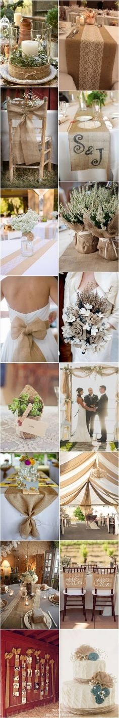 55 Chic-Rustic Burlap and Lace Wedding Ideas Magical Wedding, Fall Wedding, Diy Wedding, Rustic Wedding, Dream Wedding, Dyi Fall Decor, Cute Wedding Ideas, Wedding Inspiration, Flower Decorations