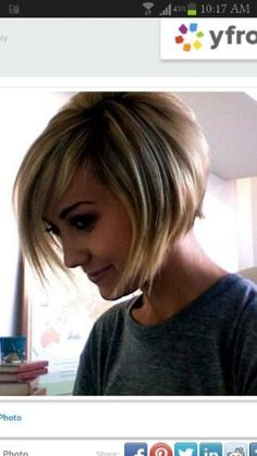 Short Bob {this is so cute - if I knew how to style this every day, I might go for the cut!) by eleanor