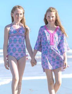 23dce45a46 Big Girls Bora Bora Swimsuit   Cover-up Set