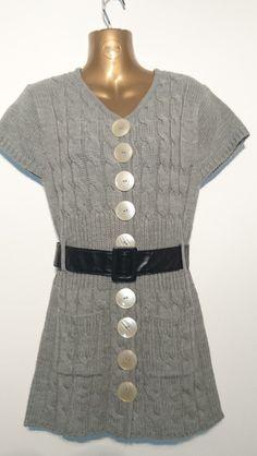 Knielange Kleider - *Strickkleid* lady grey 3 - ein Designerstück von Glanzknopf bei DaWanda