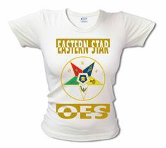 Order of the Eastern Star Fitted T-Shirt (White) My Sisters Keeper, Star Gift, Eastern Star, Sistar, Selling Online, Fitness, Freemasonry, T Shirt, 4 Life