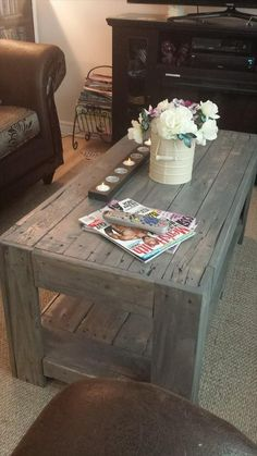 DIY Wood Pallet Coffee #Table   101 Pallet Ideas