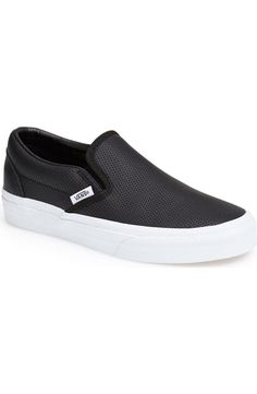 Pin for Later: 40 Alternatives to Pajamas Perfect For Working From Home  Vans Classic Perforated Slip-On Sneaker ($60)