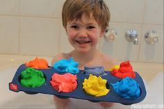 DIY Bath Paint! Great FUN for bath time!...only 2 ingredients! -