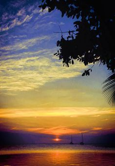 ✯ Blue And Golden Sunset