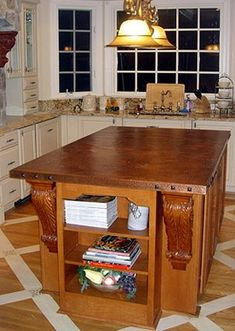copper countertop, at least the island/bar