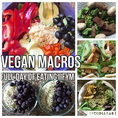 Full Day of Eating Vegan IIFYM Meals 1 & 6 Tofu Smoothie Bowl Meal 2 Couscous veggie bowl Meal 3 @Gardein Szechuan strips with broccoli and mushrooms Meal 4 Lettuce Wraps with Bocca chickn burger, avocado and just mayo  Meal 5 Salad with @beyondmeat Chickn strips - Need help with Vegan Macros/Vegan Meal Plans? Email me 📩HollyBrownFit@gmail.com