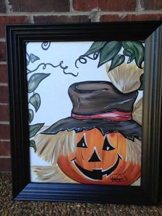 Fall Canvas Painting Ideas New Fall Paintings Canvas Fall Canvas Painting, Autumn Painting, Autumn Art, Fall Paintings, Canvas Paintings, Halloween Painting, Halloween Art, Halloween Window, Halloween Lanterns