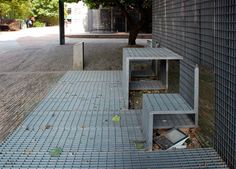 yung ho chang of atelier FCJZ: steel grille seating