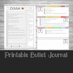PRINTABLE BULLET JOURNAL ---------------------------------------- Bullet journals can be amazingly beautiful, but they are also incredibly time consuming. So if you dont have the time to draw out new pages constantly, arent particularly creative or completely new to bullet