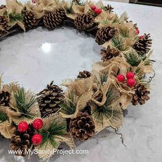 Pine Cone Christmas Decorations, Pine Cone Christmas Tree, Christmas Wreaths, Christmas Crafts, Christmas Ideas, Pinecone Decor, Christmas Arrangements, Christmas Villages, Pine Tree