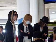 Aoi, Reita and Ruki. The GazettE