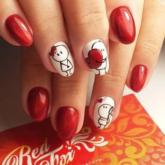 30 Super Cute Red Acrylic Nail Designs To Inspire You These trendy Nails ideas would gain you amazing compliments. Check out our gallery for more ideas these are trendy this year. Chic Nail Designs, Simple Nail Designs, Acrylic Nail Designs, Easy Designs, Chic Nails, Love Nails, Pretty Nails, Red Acrylic Nails, Red Nails