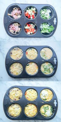 Hartige Muffins (leuk en lekker voor op de Paastafel) Savory Muffins (fun and tasty for the Easter t Healthy Snacks, Healthy Recipes, Snack Recipes, Cooking Recipes, Savory Muffins, Yummy Food, Tasty, Snacks Für Party, High Tea