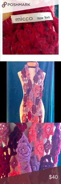 ⚜️EXQUISITE FLORAL WRAP/SCARF⚜️ FLOWER POWER 🌺🌸🌹in exquisite detail. Purchased from Neiman Marcus Micco Accessories Scarves & Wraps