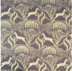 (Bokkie) A reinterpretation of the springbok, inspired by art deco textiles and the South African railways