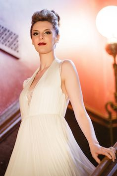 BHLDN wedding dress | Ashley Gerrity Photography | see more on: http://burnettsboards.com/2014/10/gothic-wedding-ideas/