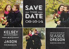 blackboard save-the-date cards starting at $0.80 #chalkboard #wedding #savethedate