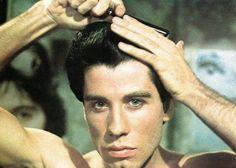 John Travolta in Saturday Night Fever Pulp Fiction, John Travolta Young, Travolta Gif, Johnny Travolta, Karen Lynn Gorney, Gena Rowlands, Italian Hair, Danny Zuko, Italian Memes
