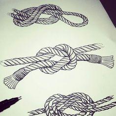 Knots tattoo flash, black n white dots work