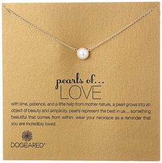 Dogeared Pearls of    Love Gold 8mm Freshwater Pearl Necklace 18 *** You can find more details by visiting the image link.