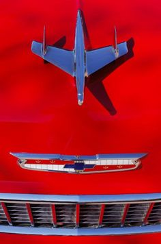 1955 Chevrolet Belair Nomad Hood Ornament Photograph by Jill