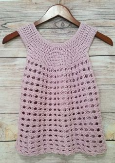 Free Sunset Shells Crochet Top pattern I'm thrilled to share this free pattern for an easy, breezy summer top - the Sunset Shells Crochet Top! This crochet top is perfect for warmer weather. Crochet Toddler, Crochet Girls, Crochet Woman, Crochet For Kids, Crochet Tank Tops, Crochet Summer Tops, Crochet Shirt, Crochet Vests, Crochet Baby Dress Free Pattern