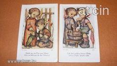 Berta Hummel szentképek a 30-s évekből! Original Rare Print! Fleißbildchen. Ars sacra Nr. 3813-3814