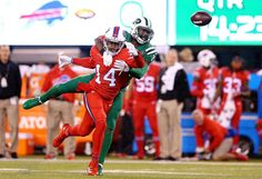 Darr  Darrelle Revis #24 of the New York Jets breaks up a pass intended for Sammy Watkins #14 of the Buffalo Bills during the first quarter at MetLife Stadium on Nov. 12, 2015 in East Rutherford, N.J. -    elle Revis