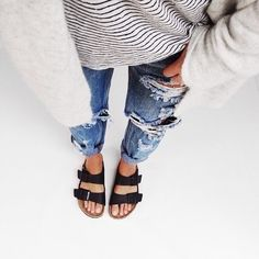denim time with sandals japan
