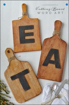 Cheap Wedding Gift Ideas - DIY Cutting Board Wall Art - DIY Wedding Gifts You Can Make On A Budget - Quick and Easy Ideas for Handmade Presents for the Couple Getting Married - Inexpensive Things To Make for Bride and Groom - DIY Home Decor, Wall Art, Glassware, Furniture, Tableware, Place Settings, Cake and Cookie Plates and Glasses