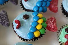 Fish birthday cupcakes