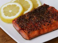 Broiled Sockeye Salmon with Citrus Glaze by Alton Brown