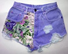Every girl can be like the DIY Fashion ideas of Girls Short Jeans. You can be see here the result of your DIY Jeans Fashion that Changes in Do It Yourself Quotes, Purple Jeans, Light Blue Jeans, Summer Outfits, Cute Outfits, Summer Shorts, Summer Jeans, Fashion Clothes, Lace Shorts