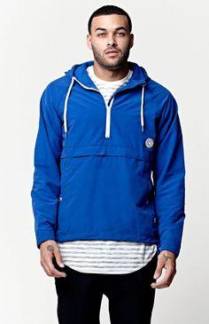 Rhythm Zissou Windbreaker Jacket - Mens Jacket - Blue