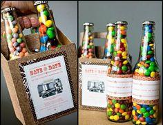 DIY {candy caddy} - Regalos Originales y detalles para… Craft Gifts, Diy Gifts, Party Gifts, Party Favors, Favours, 21st Birthday, Birthday Gifts, Birthday Candy, Birthday Ideas