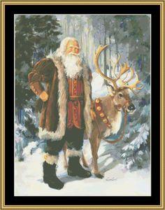 Woodland Santa II [SC-18] - $16.00 : Mystic Stitch Inc, The fine art of counted cross stitch patterns