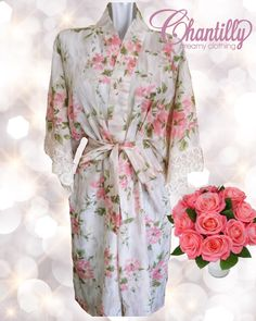 Night robe in cotton with lace.. So cute! Made in Ecuador @chantilly_ec