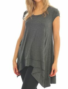 Scoop Neck Sidetail Tunic