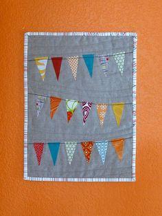 mini pennant quilt @Rosie HW Donovan how cute is this? Thanks @Cat Waits Koehn