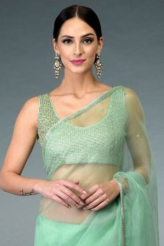 Exquisite collection of sarees embodying heritage crafts and needlework artistry Dress Neck Designs, Fancy Blouse Designs, Saree Blouse Designs, Blouse Styles, Indian Wedding Guest Dress, Designer Dress For Men, Saree Jackets, Bollywood Designer Sarees, Stylish Blouse Design