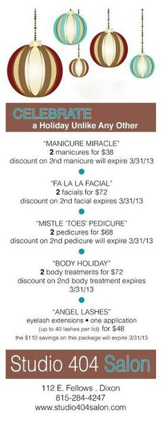 Old village medi spa holiday open house spa idea for 12 days of christmas salon specials