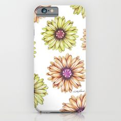 Fun With Daisy- In memory of Mackenzie iPhone & iPod Case by Vikki Salmela, #daisy #flower hand #painted #colored #pencil #art on #fashion #tech #cases for #phones #iPhone #Samsung. Perfect for #her, #office, #travel or special #gift. #Mother's Day.