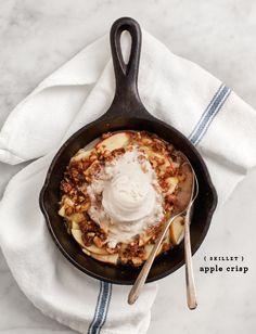 #apple, #dessert  Source: Love and Lemons - www.loveandlemons.com/2013/11/18/skillet-apple-crisp/  View entire slideshow: Our Go-To Entertaining Recipes on http://www.stylemepretty.com/collection/744/