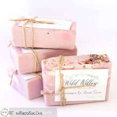 #bubblelove from @wildwillowhandmade -  Champagne & Roses Soap  Designed and made exclusively for @willacollective. Available at @willacollective. Made with gorgeous skin loving oils & butters coconut milk & pink clay #handmadesoap #handmadeperth #perthhills #perthlife #perthsoap #perthisok #smallbatch #notoxins #palmoilfree #natural #kindtoskin #coconutmilk #sheabutter #handmadeluxury #botanicals #soapshare #soapart #ecobeauty - #4theloveofbubbles