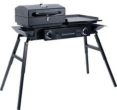Blackstone Tailgater Portable Gas Grill and Griddle Combo With Barbecue Box and Open Burner Stove.Great for Hunting,Fishing and Camping.
