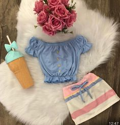 2019 New Baby Girls Children Girls Clothes Set Striped T-shirt Tops+Skirts Summer Clothing For Girls, Ropa de niña, Cute Toddler Girl Clothes, Cute Baby Girl Outfits, Kids Outfits Girls, Cute Outfits For Kids, Toddler Girl Outfits, Baby Girl Dresses, Kids Girls, Summer Outfits, New Baby Girls
