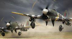 adam tooby digital aviation art Storm Rising