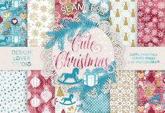 Cute christmas digital papers @creativework247