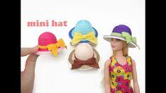 DIY Miniature Doll Mini Hats - Easy to make!